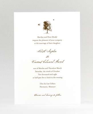 spring tree wedding invitations