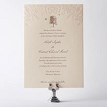 Naturalist: Letterpress Wedding Invitation