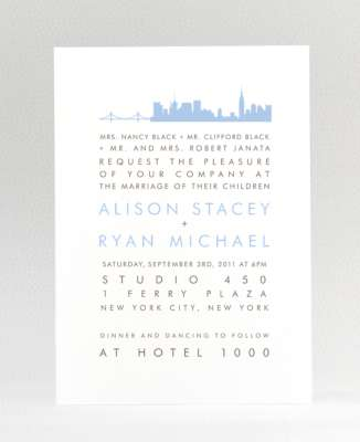 New York City Skyline: Wedding Invitation