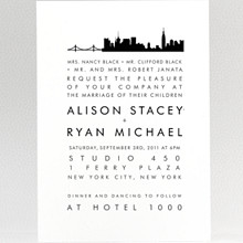 New York City Skyline---Wedding Invitation