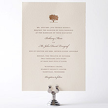 Oak: Letterpress Wedding Invitation