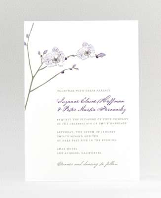 Orchid: Wedding Invitation