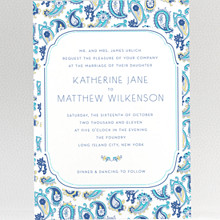 Paisley: Wedding Invitation
