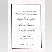 Peonies: Wedding Invitation