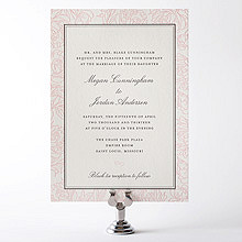 Peonies---Letterpress Wedding Invitation