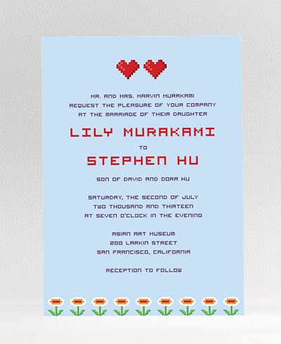 Pixel Perfect Wedding Invitation