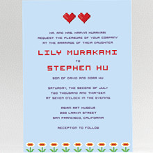 Pixel Perfect---Wedding Invitation
