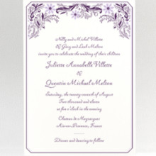Provence: Letterpress Wedding Invitation