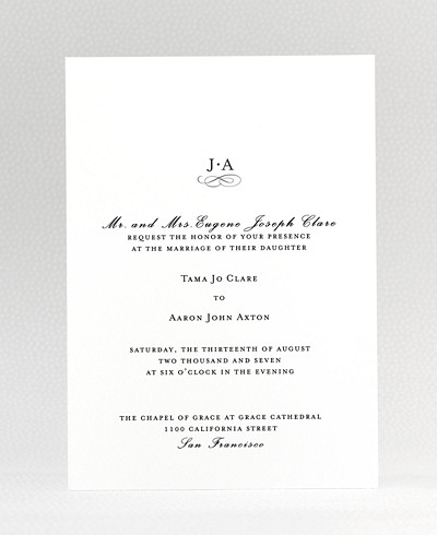 Ritz Wedding Invitation