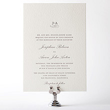 Ritz: Letterpress Wedding Invitation