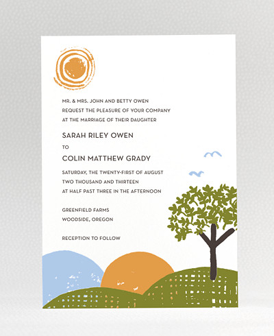 Rolling Acres Wedding Invitation