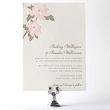 Romantic Garden: Letterpress Wedding Invitation