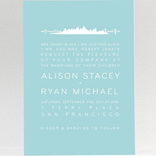 San Francisco Skyline---Wedding Invitation