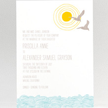 Seagulls: Wedding Invitation