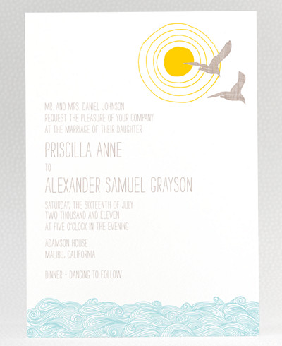 Seagulls Wedding Invitation