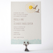 Seagulls: Letterpress Wedding Invitation