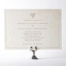 Seashore: Letterpress Wedding Invitation