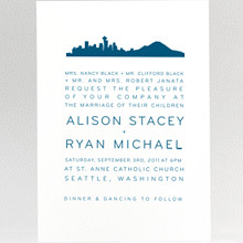 Seattle Skyline: Wedding Invitation