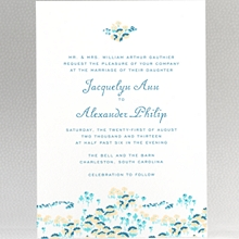 Secret Garden---Letterpress Wedding Invitation