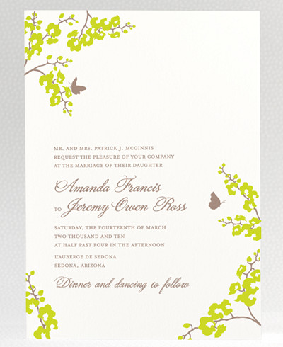 Shangri-La Wedding Invitation
