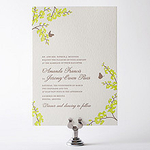 Shangri-La: Letterpress Wedding Invitation