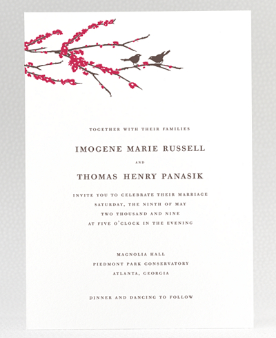 Sparrows Wedding Invitation