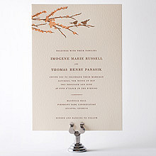 Sparrows: Letterpress Wedding Invitation