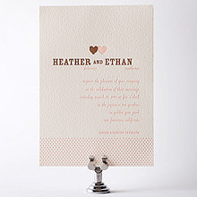 Sweetheart: Letterpress Wedding Invitation