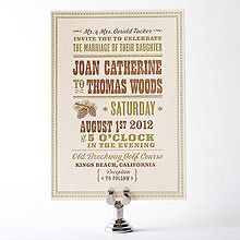Tahoe: Letterpress Wedding Invitation