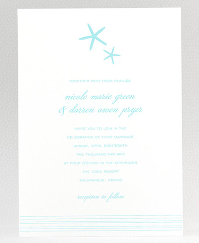 Tides Wedding Invitation