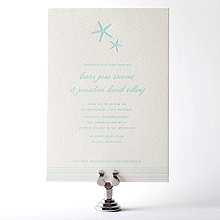 Tides: Letterpress Wedding Invitation
