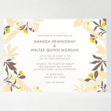 Tropic: Letterpress Wedding Invitation