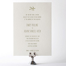 Tuscany: Letterpress Wedding Invitation