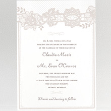 Vintage Lace: Wedding Invitation