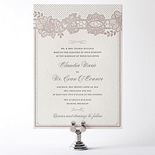 Vintage Lace---Letterpress Wedding Invitation