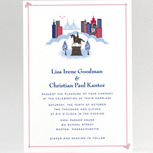 Visit Boston---Wedding Invitation