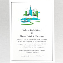 Visit Chicago - Wedding Invitation