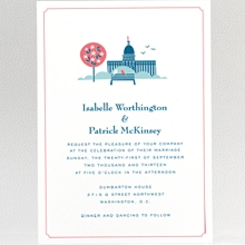 Visit Washington, D.C.---Letterpress Wedding Invitation