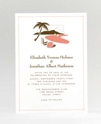 beach wedding invites