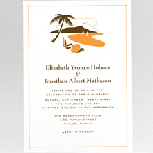Visit Hawaii: Wedding Invitation