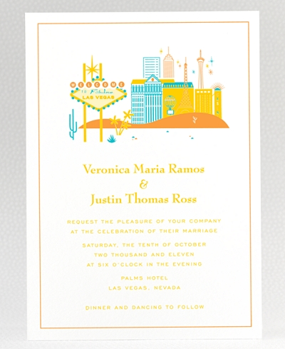 Visit Las Vegas Wedding Invitation