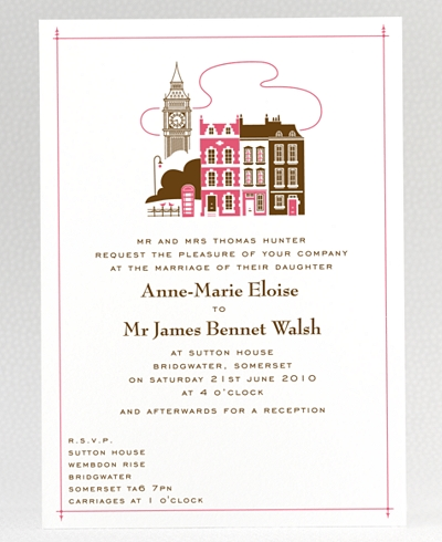Visit London Wedding Invitation