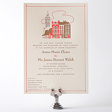 Visit London---Letterpress Wedding Invitation