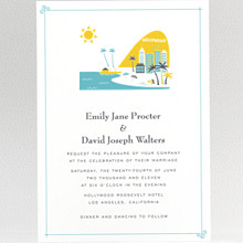 Visit Los Angeles - Wedding Invitation