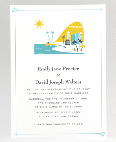 Visit Los Angeles Wedding Invitation