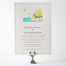 Visit Los Angeles---Letterpress Wedding Invitation
