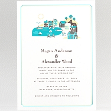 Visit Martha\'s Vineyard: Letterpress Wedding Invitation