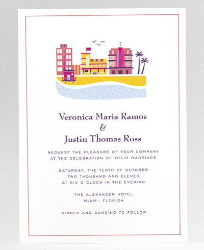 Visit Miami Wedding Invitation