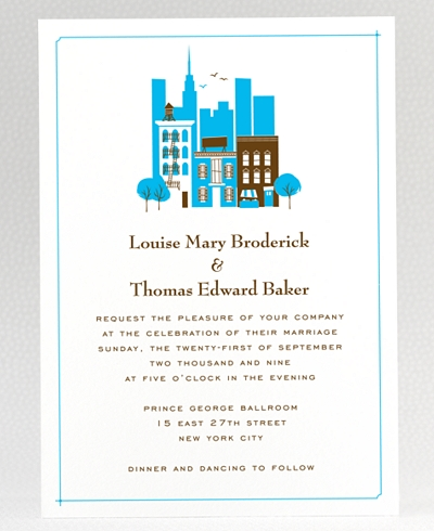 Visit New York Wedding Invitation