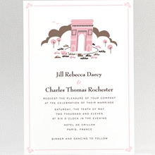 Visit Paris---Wedding Invitation